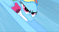 Rainbow Dash about to do Sonic Rainboom S1E16