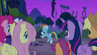 Rainbow Dash approached by friends S6E7