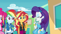 Rarity introduces Sunset Shimmer EGROF