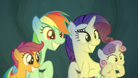 Rarity sharing in her friends' excitement S7E16
