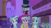 Spike on Pinkie Pie S2E26