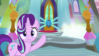 Starlight pointing at the locked school S8E2