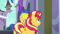 Sunset approaching the Canterlot Library EGFF.png