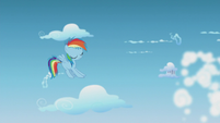 Twilight and Spike crash into clouds off-screen S5E25