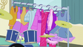 A costume rack rolls in front of Pinkie EG3.png