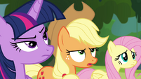 Applejack reminds Discord of his mission S4E25
