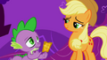 Applejack smiling at Spike S01E03.png