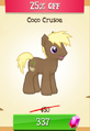 Coco Crusoe MLP Gameloft.png