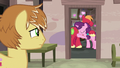 Feather Bangs watches Big Mac and Sugar Belle cuddle S7E8.png