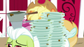 Granny Smith carries dirty dishes past Applejack S7E14.png