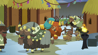 Prince Rutherford surrounded by happy yaks S7E11
