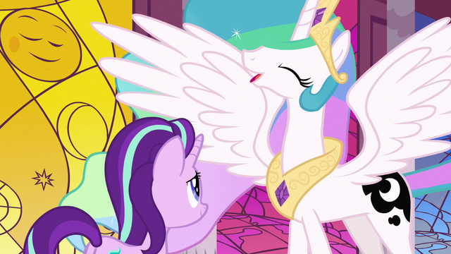 File:Princess Celestia feeling well-rested S7E10.png