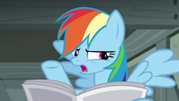"Rainbow Dash ""looks forward to her retirement"" S7E18"
