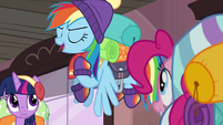 Rainbow Dash --if he messes with us-- S6E17