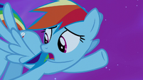 Rainbow Dash -too busy saving ponies to catch it- S5E13