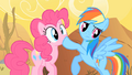 Rainbow Dash Shushing Pinkie Pie S1E21.png