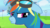 Rainbow Dash pouting angrily S7E7