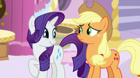 Rarity about to laugh S7E9