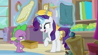 Rarity asking for Spike's opinion S9E19