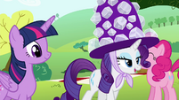 Rarity breaking the silence S4E18