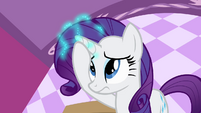 Rarity putting out her magic S4E1