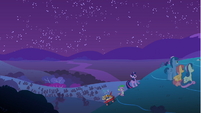 Spike and Twilight walking up the hill S1E24