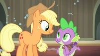 Spike offering Applejack help S4E06