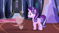 Starlight hears Rarity as Pinkie speeds off-screen S6E21