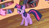 Twilight chasing Spike S2E10