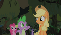 Applejack questions Spikes theory S1E15.png