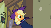 Applejack removes her Mare Do Well costume S2E08