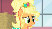 Applejack telling Rarity the dress is hers S4E13