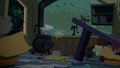 Cider spilled all over Trouble Shoes' kitchen S5E6.png