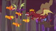 Dragões caçando os filhotes de Fênix T2E21