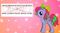 FANMADE Hail Lauren Faust Magic Yank