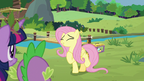 Fluttershy excited for the coronation S9E26