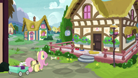 Fluttershy takes Angel to Dr. Fauna's clinic S7E5
