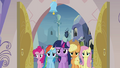 Main 5 ponies entering the spa S03E12.png