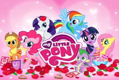 My Little Pony mobile game Hearts and Hooves theme splash screen