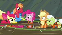 Pinkie Pie mentions the waterfall S4E09