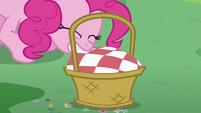 Pinkie Pie pulling cloth S2E03