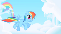 Rainbow Dash's floating feathers S1 Opening