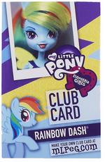 Rainbow Dash Equestria Girls Club card