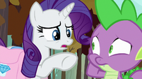 "Rarity ""something wrong with your face?"" S8E11"