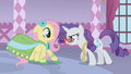 Rarity backing Fluttershy into a corner S1E14.png
