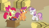 "Scootaloo ""you saw how shifty he was acting"" S7E8"