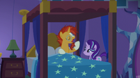 Sunburst yawns after waking up S7E24