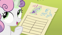 "Sweetie Belle ""pro, it's beautiful"" S8E6"