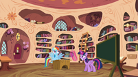Twilight and Rainbow in the library S4E21