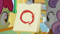 Apple Bloom and Sweetie Belle look at Kettle Corn's painting S7E21.png